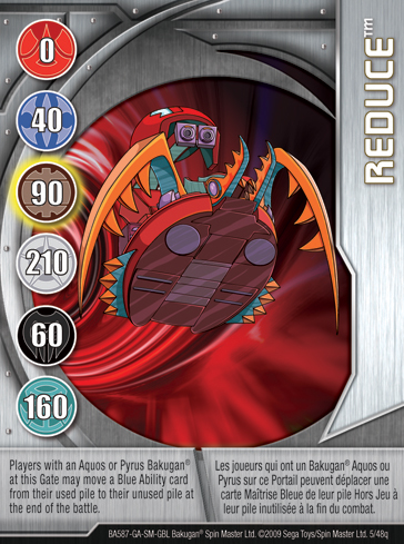 5q Reduce Bakugan 1 48q Card Set 1