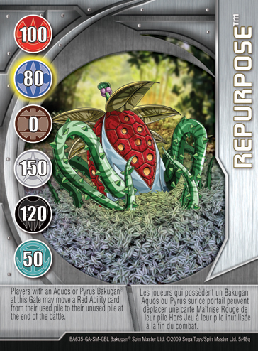 5q Repurpose Bakugan 1 48q Card Set 2