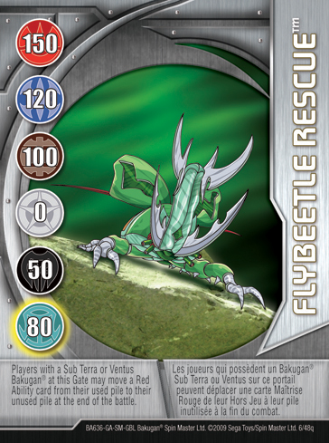 6q Flybeetle Rescue Bakugan 1 48q Card Set 2