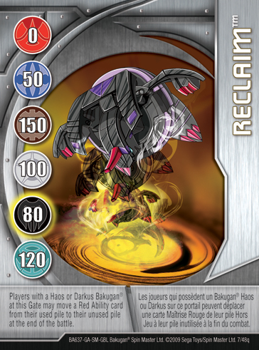 7q Reclaim Bakugan 1 48q Card Set 2