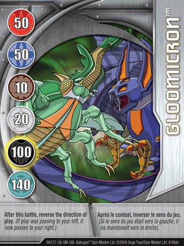 8ah Gloomicron Bakugan 1 48ah Card Set