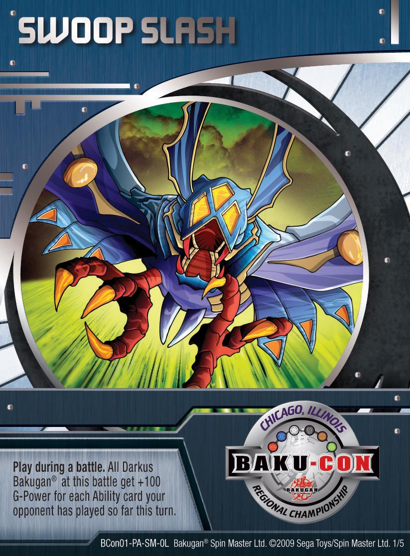 BCon 1 Swoop Slash Bakugan 1 5BCon Card Set