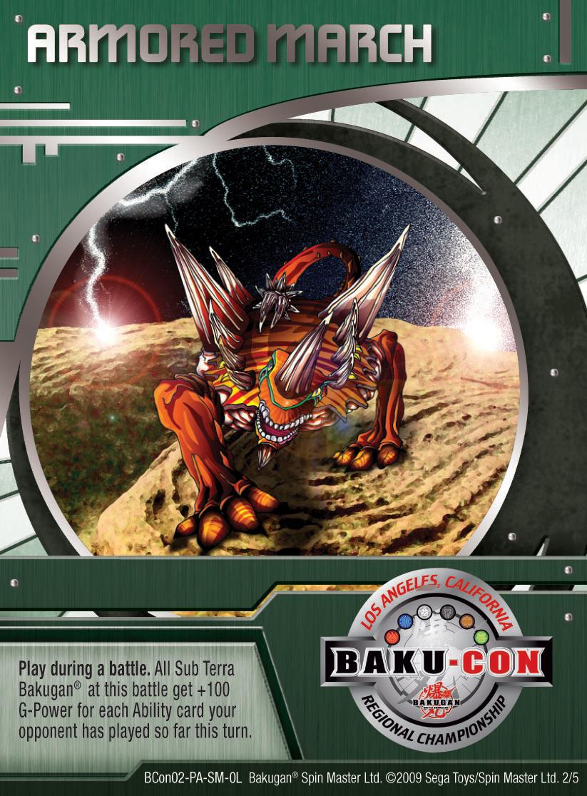BCon 2 Armored March Bakugan 1 5BCon Card Set