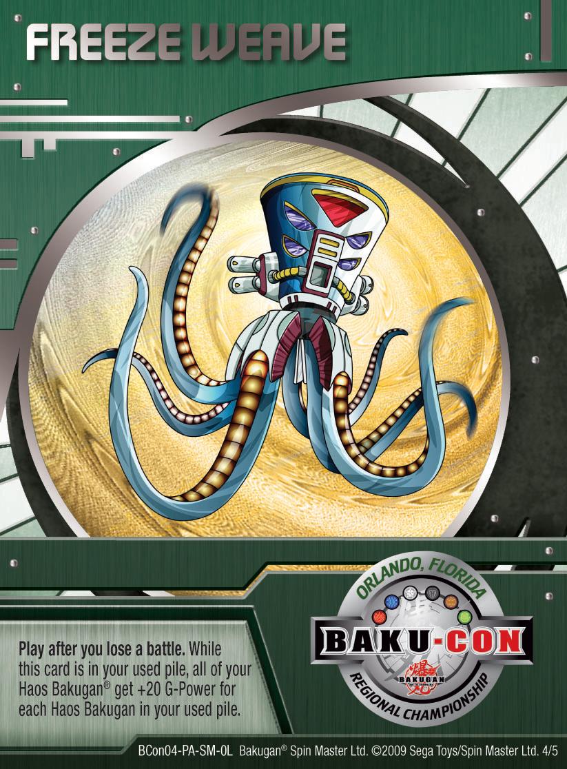 BCon 4 Freeze Weave Bakugan 1 5BCon Card Set