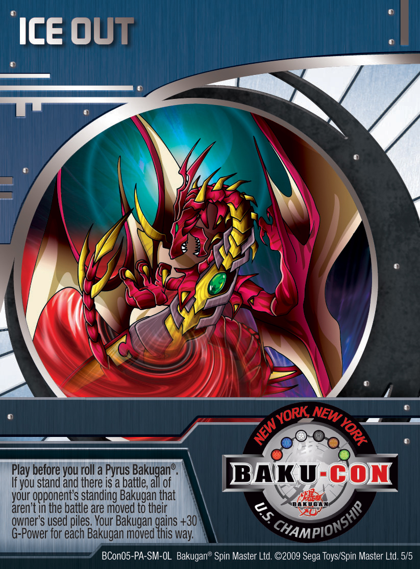 BCon 5 Ice Out Bakugan 1 5BCon Card Set