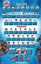 Bakugan S2 Complete Poster Back Bakugan Posters