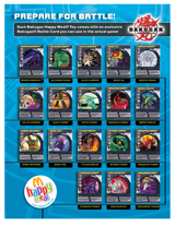 TH McDonalds Bakugan BattleCards Bakugan Posters