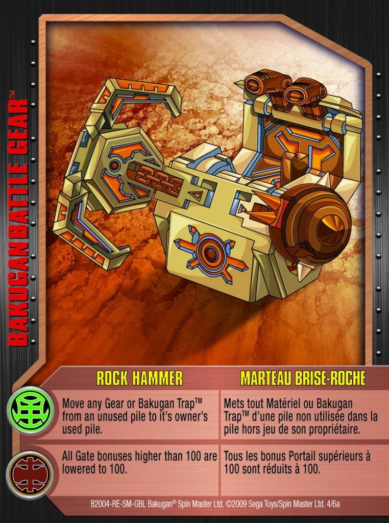 04a Rock Hammer 762x1024 Bakugan 1 6a Battle Gear Card Set