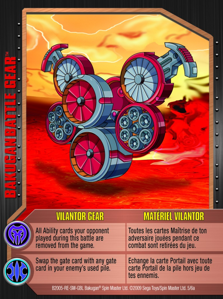 05a Vilantor Gear 762x1024 Bakugan 1 6a Battle Gear Card Set