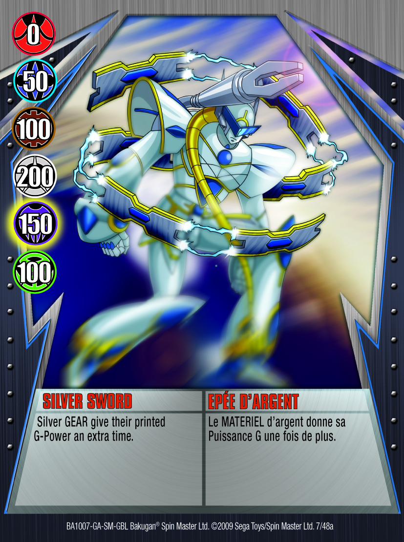 07a Silver Sword Battle Crusher Bakugan Battle Gear