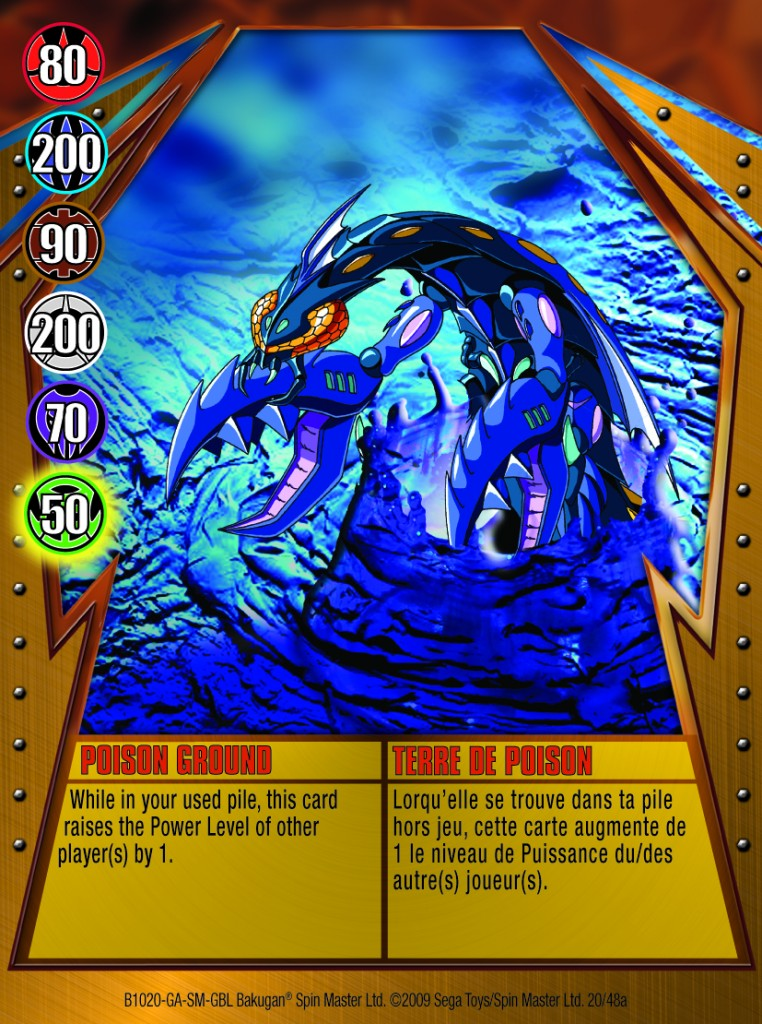 20a Poison Ground 762x1024 Bakugan Gundalian Invaders 1 48a Card Set