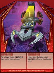 6a Clawsaurus Bakugan 1 6a Super Assault Card Set