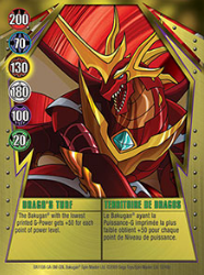 12 48c Dragos Turf Bakugan Gundalian Invaders 1 48c Card Set