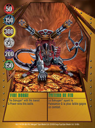 18 48c Fire Dodge Bakugan Gundalian Invaders 1 48c Card Set