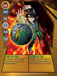 22 48c Lure of Fire Bakugan Gundalian Invaders 1 48c Card Set