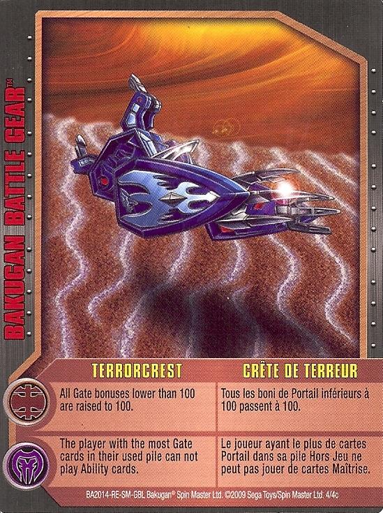 4c Terrorcrest Bakugan 1 4c Battle Gear Card Set