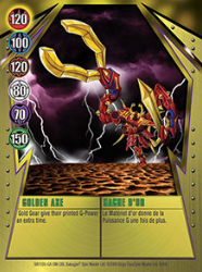 9 48c Golden Axe Bakugan Gundalian Invaders 1 48c Card Set