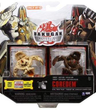 Evil Twin Coredem Bakugan Evil Twin Packs