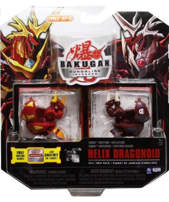 Evil Twin Helix Dragonoid Bakugan Evil Twin Packs