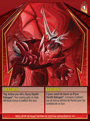 1 4a Fire Sneak Bakugan GI Stealth Series 1 4a Card Set