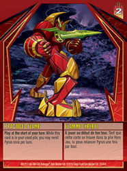 25e Practiced Flame Bakugan Gundalian Invaders 1 47e Card Set