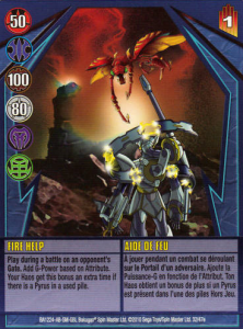 32e Fire Help 222x300 Bakugan Gundalian Invaders 1 47e Card Set