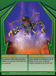39e Attract Silver Bakugan Gundalian Invaders 1 47e Card Set