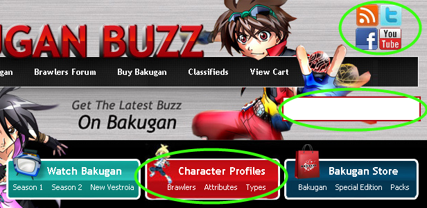 siteupdate Bakugan Buzz Site Updates