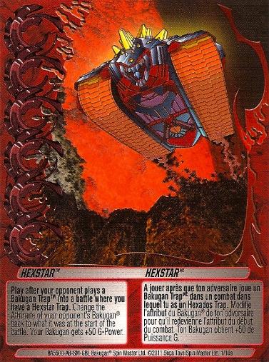 1 10a Hexstar Bakugan 1 10a Trap Card Set