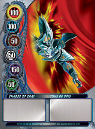 2f Shades of Gray Bakugan Mechtanium Surge 1 48f Card Set