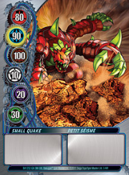 3f Small Quake Bakugan Mechtanium Surge 1 48f Card Set
