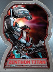 Zenthon titan Bakugan Season 4 Mechtogan Titan Activator Cards