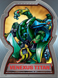 venexus titan Bakugan Season 4 Mechtogan Titan Activator Cards
