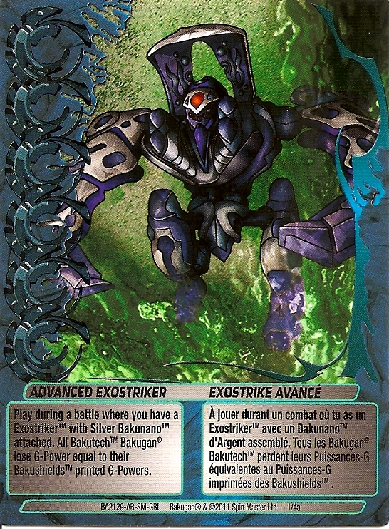 1 4a Advanced Exostriker Bakugan 1 4a Advanced Mechtogan Card Set