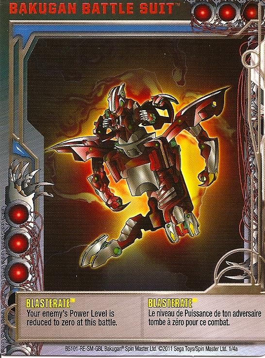 1 4a Blasterate Bakugan 1 4a Battle Suit Card Set