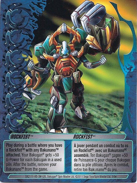 1 5e Rockfist Bakugan 1 5e Mechtogan Card Set