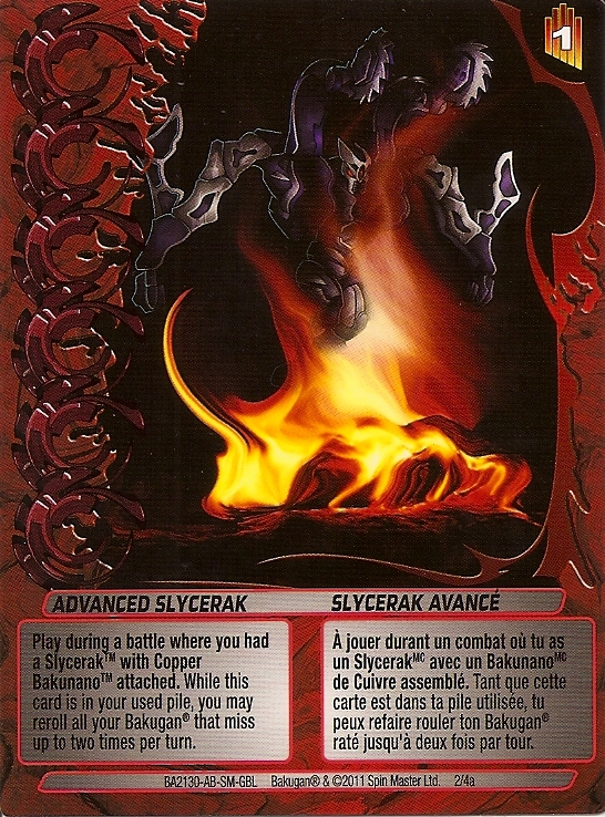 2 4a Advanced Slycerak Bakugan 1 4a Advanced Mechtogan Card Set