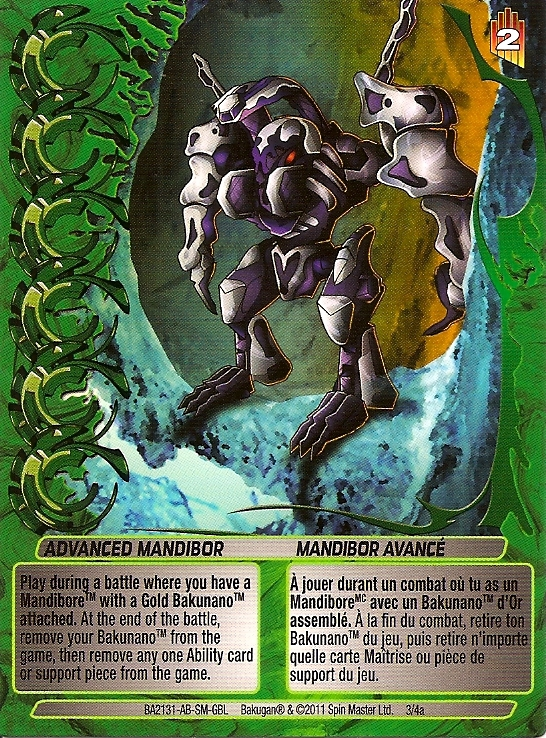 3 4a Advanced Mandibor Bakugan 1 4a Advanced Mechtogan Card Set