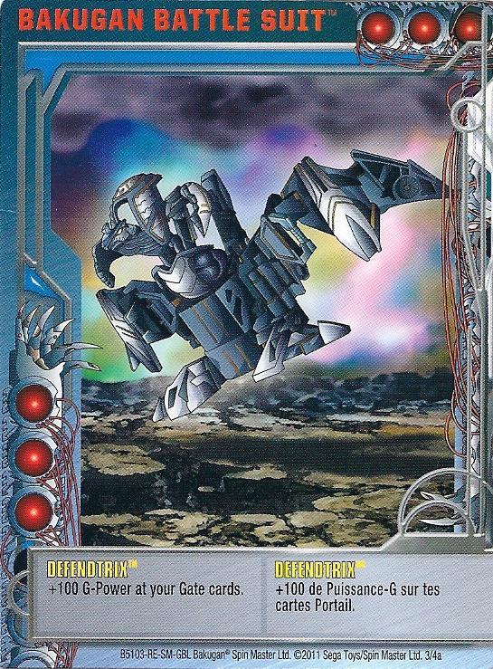 3 4a Defendtrix Bakugan 1 4a Battle Suit Card Set