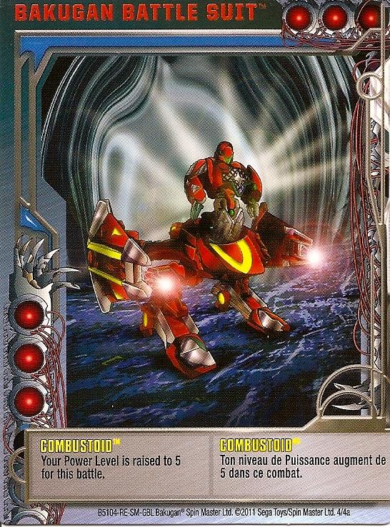 4 4a Combustoid Bakugan 1 4a Battle Suit Card Set