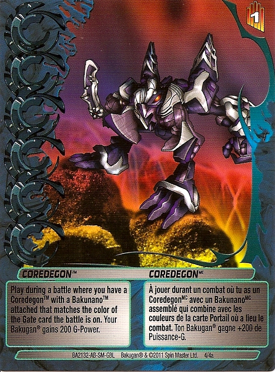 4 4a Coredegon Bakugan 1 4a Advanced Mechtogan Card Set