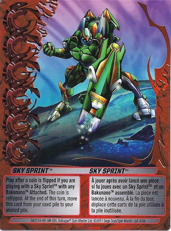 4 5e Sky Sprint Bakugan 1 5e Mechtogan Card Set