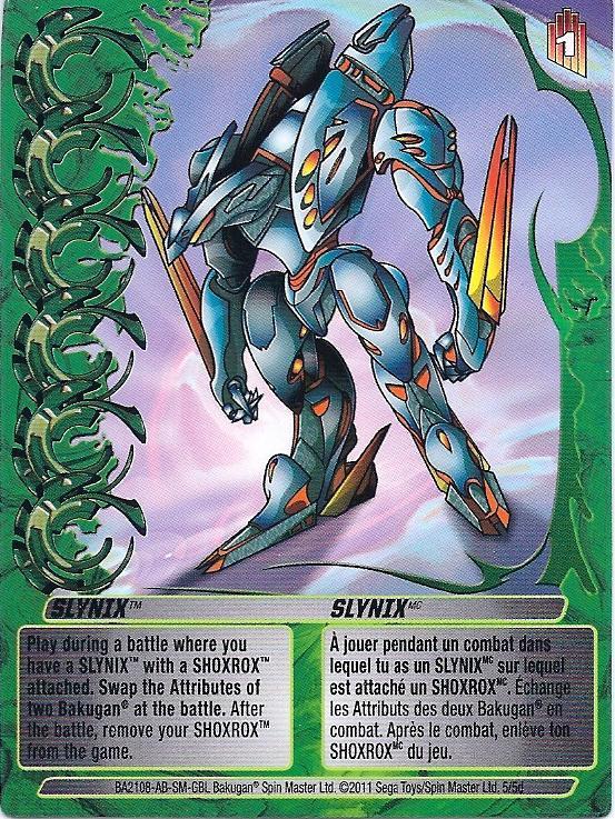 5 5d Slynix Bakugan 1 5d Mechtogan Card Set