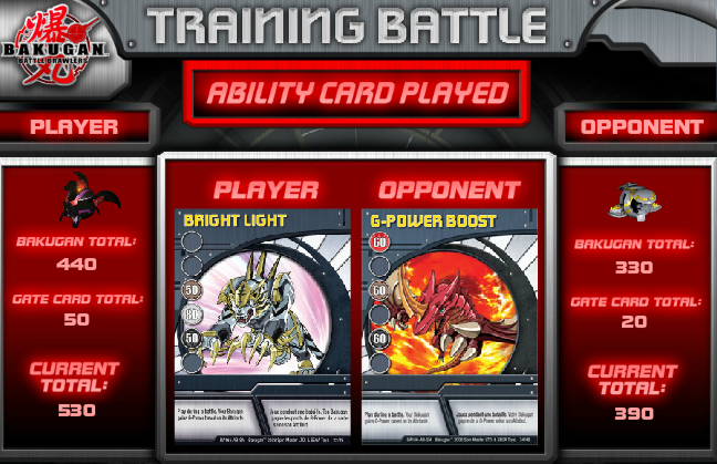 abilityCARD Bakugan Training Battle