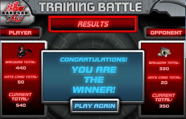 bakuganWINNER Bakugan Training Battle